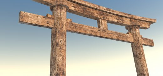 3d model of japanese Torii Gateway