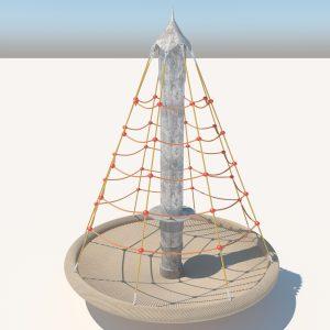 Climbing net pyramid