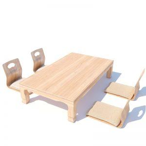 Japanese living set model