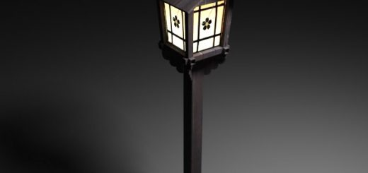 old japanese street lamp