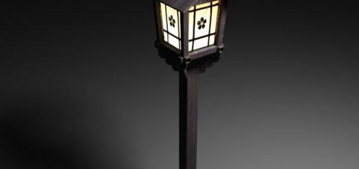 old japanese street lamp